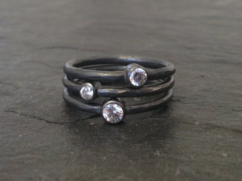 Noir stacking ringe