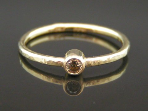 Champagne diamant ring
