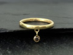 Dinglende diamant ring