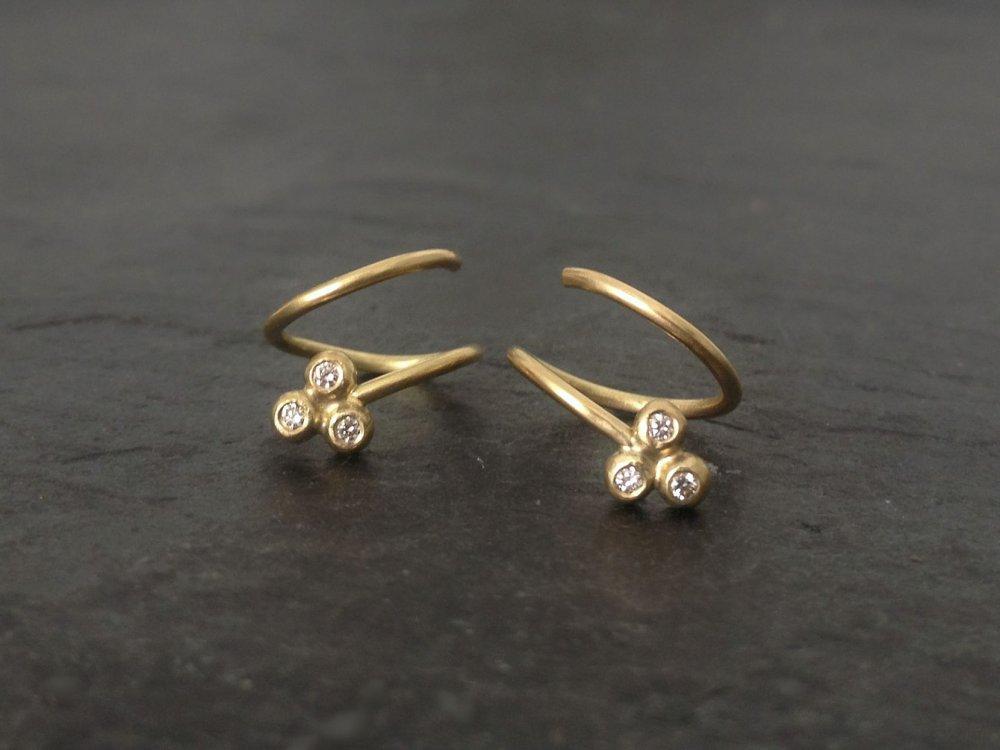 f665e55b831 Guldøreringe - smukke håndlavede øreringe i 18 karat guld